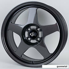 1 ROTA SLIPSTREAM 16X7 4X100 ET40 67.1 GUN METAL WHEELS