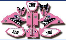 Custom Girls Yamaha TTR50 YZ YZF Pink Graphic Sticker Decal Fits Plastic 5-PK