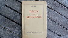 DESTIN DE LA ROUMANIE / HENRI PROST  / 1954