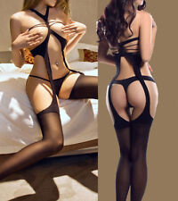 Babydoll Sexy Lingerie Underwear BODYSTOCKING Catsuit Stocking Open bra Teddies