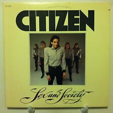 CITIZEN Sex And Society LP NM WLP PROMO Ovation 1980 new wave w/lyric inner