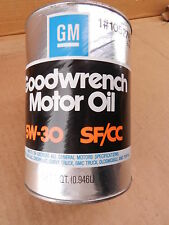 Vintage GM Goodwrench Motor Engine Oil 5w-30 SF/CC Quart Can Unopened 1052765