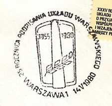 POLAND 1980 090 CANCEL, The Warsaw Pact, cancel FDC,