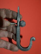 Wrought Iron Tapered Hook,Coat,Hat,Clothes,Hanger & Decorative Ball Head Screw