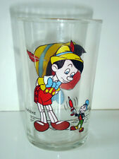 VERRE A MOUTARDE DE COLLECTION -  PINOCCHIO AVEC JIMINY WALT DISNEY