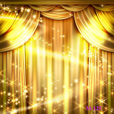 Vinyl Studio Photography Backdrop Gold Stage Curtain Photo Background 5x7ft M125