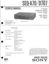 Sony  Original Service Manual für SEQ- A 70 / D 707