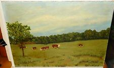"J.HARRINGTON ""THE BABY SITTER"" WHITE GATES FARM ACRYLIC ON BOARD PAINTING"