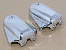Chrome Bar & Shield Rear Axle Covers swingarm Cap For Softail FLSTC FLSTN FXSTB