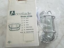 ECOLADE (Craftmade) Z396 Marine Light Frosted Halophane Glass Shade Stainless