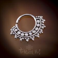 Anillo De Plata Tragus afgano Plata tabique concha joyas. Ceñido Piercing (código 23)