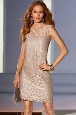 NWT $159 12 MUSE Fabulous Classy Vintage All Over Brocade Lace Dress With Slip