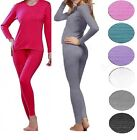 Women's 2-Piece Thermal Underwear Set Long Johns Waffle Knit Stay Warm S M L XL