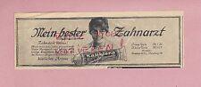 HAMBURG, Werbung 1917, Queisser & Co. Kaliklora Zahnpaste Zahnpasta
