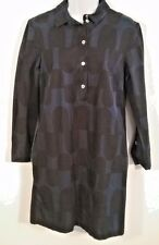 Marimekko Black and Blue Cotton Blend Shirt Dress Size S (34)