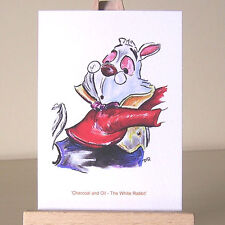 The White Rabbit Alice in Wonderland WDCC drawing ACEO art card