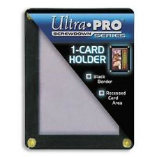 (10) Ultra Pro 4-Screw 1-Card Black Border Screwdown Holder Recessed Ultra Clear