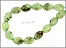 "15 Prehnite Oval / Barrel Faceted Beads 10x14mm 8"" #88030"
