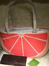 NWT Kate Spade Flights of Fancy Grapefruit XL Traveling/BeachTote-Multi pxru6809