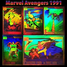 1991 Impel Marvel Universe 2 Hologram Insert Complete 5 Card Set H1-H5 Rare