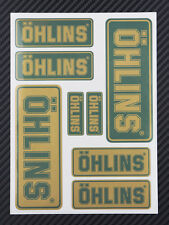 OHLINS gabel schock aufkleber 8 stickers decal Verbund metallisch ducati aprilia