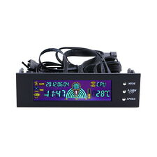 5.25 inch PC Fan Speed Controller Temperature Display LCD Front Panel DE BN