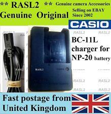 Genuine CASIO Charger BC-11L,EXILIM EX-Z8,EX-M20 EX-S1 EX-S2 EX-S20 EX-S3 EX-S4