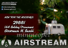 GREENLIGHT 29881 AIRSTREAM 16' BAMBI 1/64 CHRISTMAS TREE ORNAMENT with HOOK RING