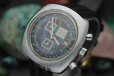 Vintage SORNA Chronograph 17 Jewel Swiss Made Men's Sport Watch CLEAN