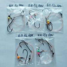 5 x sea fishing rigs 3/0-2/0 pennel rigs good for cod bass etc baitholder hooks