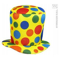 Multicolour Top Hat Clown Circus Halloween Fancy Dress Accessory