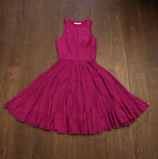 New Matthew Williamson Pleated Dress in Fucsia Chiffon size 8, £389 NET-A-PORTER