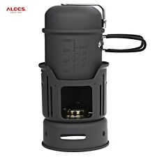 BRAND NEW ALOCS CW-C01 7pcs outdoor stove Portable Camping Set Cookware Camp kit
