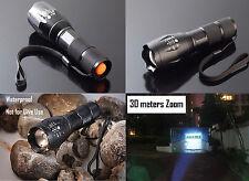 5000LM XM-L T6 LED 18650/AAA Flashlight Zoom Torch Light Lantern