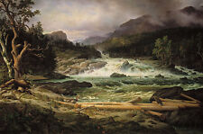 The Labro Falls at Kongsberg Thomas Fearnley Norwegen Fall Wald B A3 03247