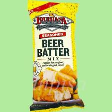 LOUISIANA BEER BATTER MIX 9 Bags x 8.5oz, PUB STYLE RECIPE, FISH FRY PRODUCTS