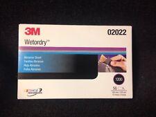 """3M 1200 GRIT Wet or Dry Black Sandpaper 5.5""""x 9"""" Sanding (Sheet 50/box) 3M-02022"""