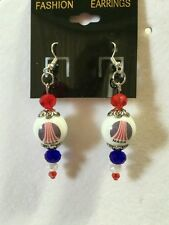 NASA EARRINGS BEADED SPACE PROGRAM SHUTTLE COLLECTIBLE