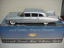 CADILLAC FLEETWOOD  LIMOUSINE SILVER 1959 PRECISION MINIATURES 1/18 NICE CAR GM