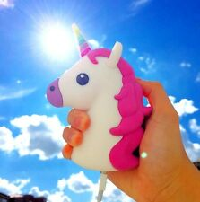 Unicorn Emoji Cartoon Fanny Portable External 2600mAh Battery Charger Power Bank