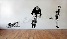 Vinyl wall art TRIATHLON SWIMMER decal
