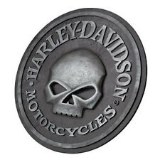 "HARLEY DAVIDSON WILLIE G CUSTOM SCULPTED 3-D SKULL PUB SIGN 18"" ROUND"