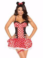 Minnie Mouse Sexy Costume Large L Women Adult Cosplay Halloween Polka Dot Disney