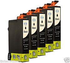 5 Tintenset für Epson Stylus DX 6050 DX7450 SX417 SX200 SX405W SX210 black Chip