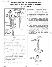 1960 Craftsman 9-2460  Drill Press Mortising Attachment Instructions