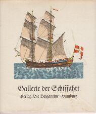 Gallerie der Schiffahrt. Ein Bilder- u. Lehrbuch (16 illumin. Kupfer)  1809/1968