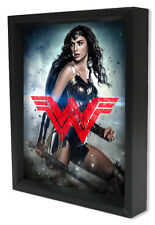 BATMAN V SUPERMAN-WW LOGO 8x10 3D SHADOWBOX DC COMICS WONDER WOMAN FILM MOVIE!!!
