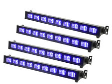 4 x QTX Ultraviolet LED Bar UVB-9 9 x 3W Blacklight Effect DJ Disco