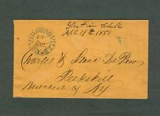 "MID GRANVILLE NY Blue CDS & Roman ""V"" for five cent rate on March 22,1851 cover"