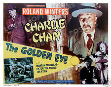 THE GOLDEN EYE LOBBY CARD POSTER HS 1948 CHARLIE CHAN ROLAND WINTERS